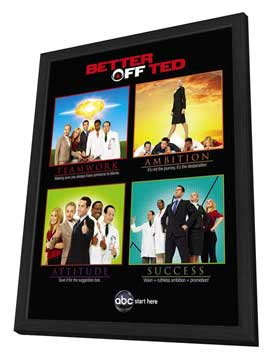 Better Off Ted (TV) - 11 x 17 TV Poster - Style B - in Deluxe Wood Frame