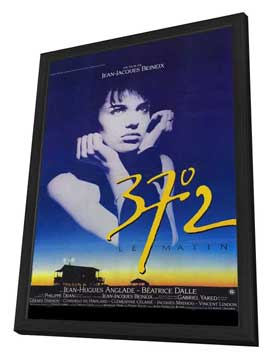 Betty Blue - 27 x 40 Movie Poster - French Style A - in Deluxe Wood Frame