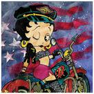 Betty Boop - Motorcycle Betty Canvas Art