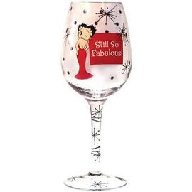 Betty Boop - Still So Fabulous Wine Glass