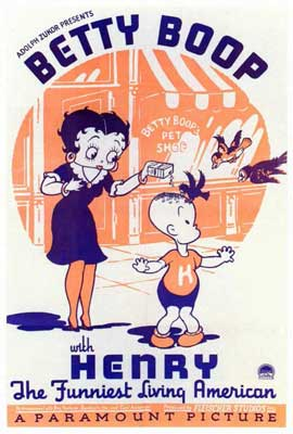 Betty Boop with Henry - 27 x 40 Movie Poster - Style A