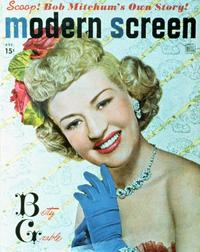 Betty Grable - 27 x 40 Movie Poster - Modern Screen Magazine Cover 1930's Style B