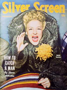 Betty Hutton - 11 x 17 Silver Screen Magazine Cover 1940's Style A