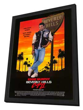 Beverly Hills Cop 2 - 27 x 40 Movie Poster - Style A - in Deluxe Wood Frame