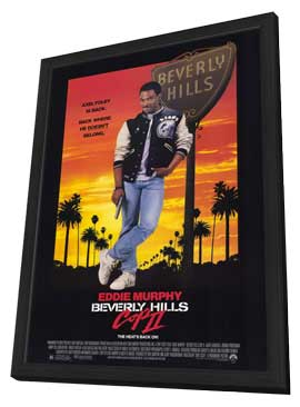 Beverly Hills Cop 2 - 11 x 17 Movie Poster - Style A - in Deluxe Wood Frame