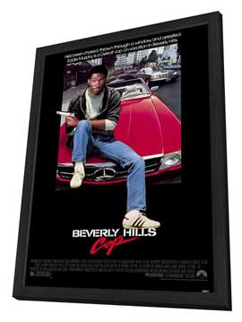 Beverly Hills Cop - 11 x 17 Movie Poster - Style A - in Deluxe Wood Frame