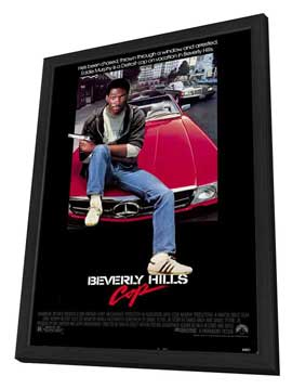 Beverly Hills Cop - 27 x 40 Movie Poster - Style A - in Deluxe Wood Frame