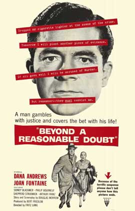 Beyond a Reasonable Doubt - 11 x 17 Movie Poster - Style A