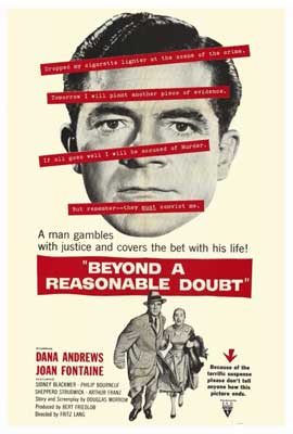 Beyond a Reasonable Doubt - 27 x 40 Movie Poster - Style A