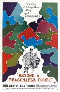 Beyond a Reasonable Doubt - 11 x 17 Movie Poster - Style C