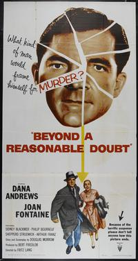 Beyond a Reasonable Doubt - 27 x 40 Movie Poster - Style B