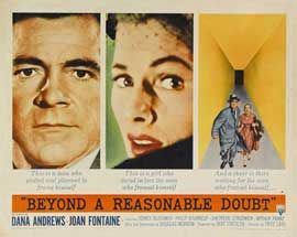 Beyond a Reasonable Doubt - 27 x 40 Movie Poster - Style D