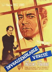 Beyond a Reasonable Doubt - 27 x 40 Movie Poster - French Style A