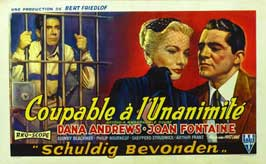 Beyond a Reasonable Doubt - 11 x 17 Movie Poster - Belgian Style A