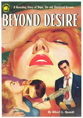 Beyond Desire - 11 x 17 Retro Book Cover Poster