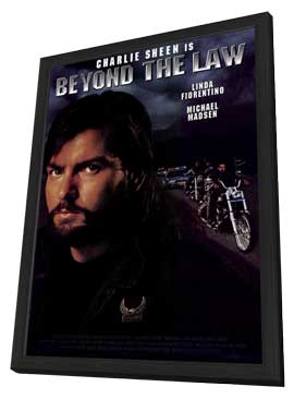 Beyond the Law - 27 x 40 Movie Poster - Style A - in Deluxe Wood Frame