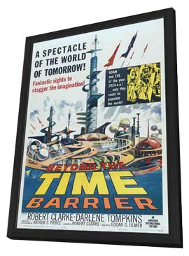 Beyond the Time Barrier - 27 x 40 Movie Poster - Style B - in Deluxe Wood Frame