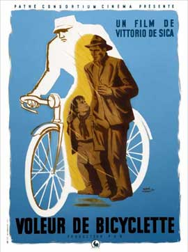 Bicycle Thieves - 11 x 17 Movie Poster - French Style A