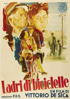 Bicycle Thieves - 27 x 40 Movie Poster - Italian Style A