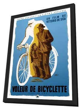 Bicycle Thieves - 11 x 17 Movie Poster - French Style A - in Deluxe Wood Frame