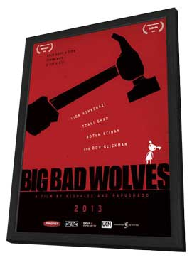 Big Bad Wolves - 27 x 40 Movie Poster - Style A - in Deluxe Wood Frame