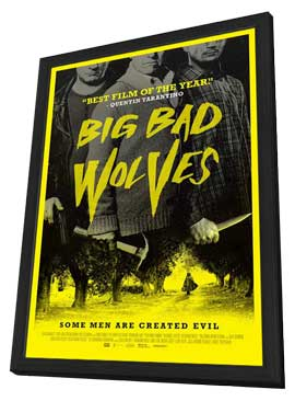 Big Bad Wolves - 11 x 17 Movie Poster - Style A - in Deluxe Wood Frame