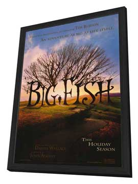 Big Fish - 27 x 40 Movie Poster - Style A - in Deluxe Wood Frame