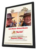 Big Jake - 27 x 40 Movie Poster - Style B - in Deluxe Wood Frame
