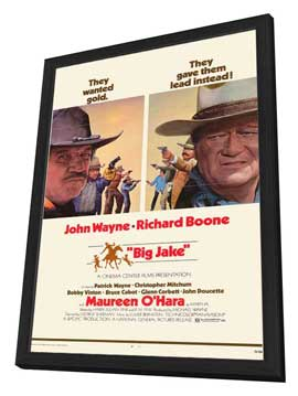 Big Jake - 11 x 17 Movie Poster - Style B - in Deluxe Wood Frame
