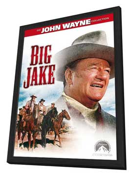 Big Jake - 27 x 40 Movie Poster - Style C - in Deluxe Wood Frame