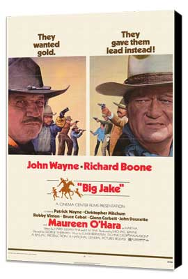 Big Jake - 11 x 17 Movie Poster - Style B - Museum Wrapped Canvas