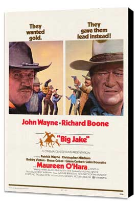 Big Jake - 27 x 40 Movie Poster - Style B - Museum Wrapped Canvas