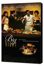 Big Night - 11 x 17 Movie Poster - Style A - Museum Wrapped Canvas