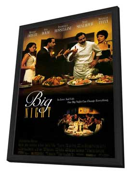 Big Night - 11 x 17 Movie Poster - Style A - in Deluxe Wood Frame