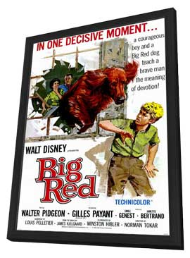 Big Red - 11 x 17 Movie Poster - Style A - in Deluxe Wood Frame