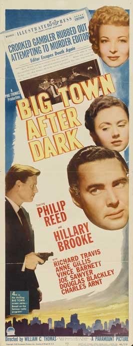 Big Town After Dark - 14 x 36 Movie Poster - Insert Style A