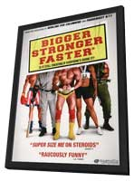 Bigger Stronger Faster - 11 x 17 Movie Poster - Style B - in Deluxe Wood Frame