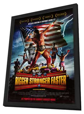 Bigger Stronger Faster - 27 x 40 Movie Poster - Style A - in Deluxe Wood Frame