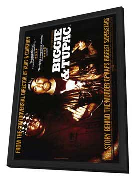 Biggie and Tupac - 11 x 17 Movie Poster - Style A - in Deluxe Wood Frame