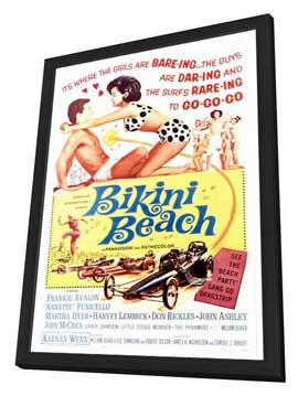 Bikini Beach - 27 x 40 Movie Poster - Style A - in Deluxe Wood Frame