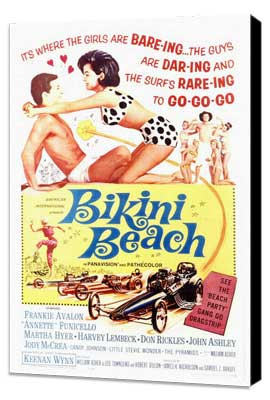Bikini Beach - 27 x 40 Movie Poster - Style A - Museum Wrapped Canvas