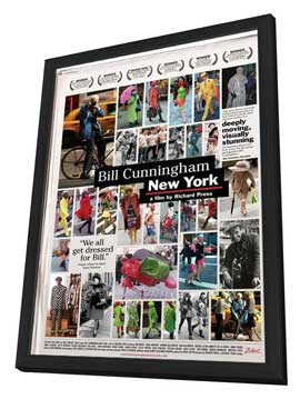 Bill Cunningham New York - 11 x 17 Movie Poster - Style A - in Deluxe Wood Frame