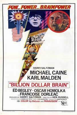 Billion Dollar Brain - 27 x 40 Movie Poster - Style A