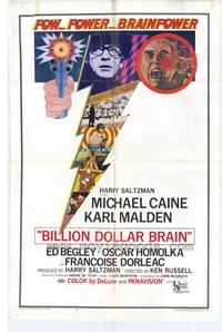 Billion Dollar Brain - 43 x 62 Movie Poster - Bus Shelter Style A