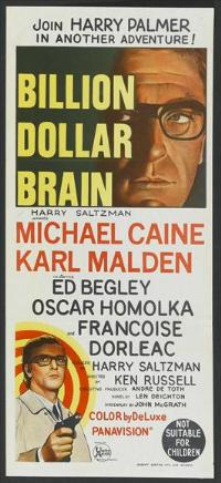 Billion Dollar Brain - 13 x 30 Movie Poster - Australian Style A
