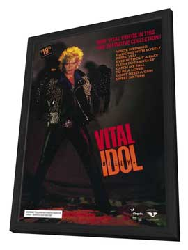 Billy Idol: Vital - 11 x 17 Movie Poster - Style A - in Deluxe Wood Frame