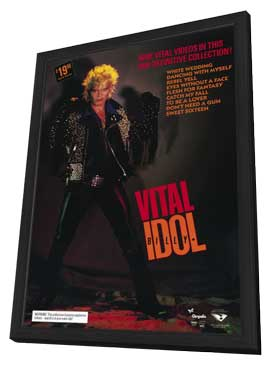 Billy Idol: Vital - 27 x 40 Movie Poster - Style A - in Deluxe Wood Frame