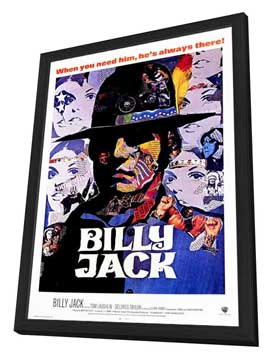 Billy Jack - 27 x 40 Movie Poster - Style A - in Deluxe Wood Frame