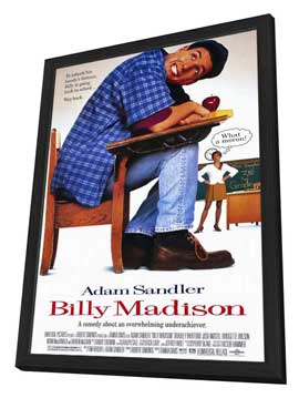 Billy Madison - 27 x 40 Movie Poster - Style A - in Deluxe Wood Frame