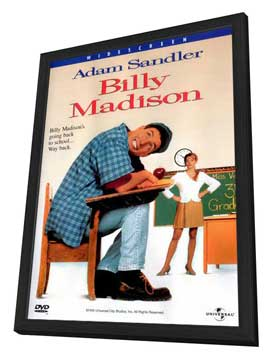 Billy Madison - 27 x 40 Movie Poster - Style C - in Deluxe Wood Frame
